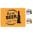 Best Beer - enjoy tasty - poster vector image vector image