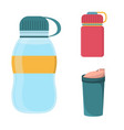 blank plastic bottle for water vector image vector image