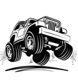 cartoon jeep vector image vector image