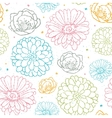 Chalk flowers colorful seamless pattern background vector image vector image