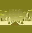 cityscape flat vector image