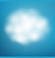 cloud on blue sky eps 10 vector image