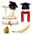 college graduation concept design elements vector image