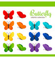 colorful butterfly collection vector image
