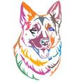 colorful decorative portrait of dog shepherd 2 vector image vector image