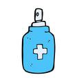 comic cartoon antiseptic spray