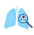 coronavirus covid19-19 chinese virus in lungs vector image vector image