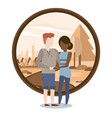 couple man and woman interracial vector image