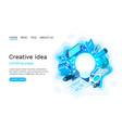 creative idea brainstorm information lamp symbol vector image vector image