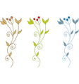 decorative branch vector image