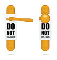 do not disturb design on door in colorful vector image