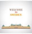 drottningholm palace stockholm sweden vector image vector image