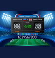electronic scoreboard football wallpaper vector image