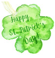 elegant watercolor st patrick day greeting card vector image