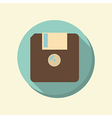 flat web icon floppy diskette vector image