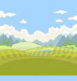 golf landscape golf landscape vector image