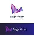 gradient vortex logo blue and violet vector image