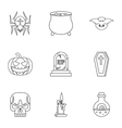 Halloween holiday icons set outline style vector image vector image