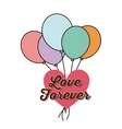 Heart and balloons icon Love design vector image vector image