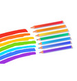 illustration rainbow colors with pencils vector image