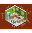 Kitchen Interior Concept vector image