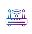 line router wifi connection network technology vector image vector image