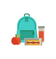 lunchbox with snacks vegetables vector image vector image