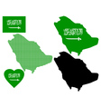 map of Saudi Arabia vector image vector image