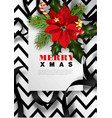 merry christmas xmas greeting card background vector image vector image