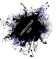 music grunge frame blue vector image vector image