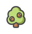 oak tree simple icon cartoon vector image vector image