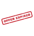 Offer Expired Rubber Stamp vector image vector image