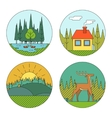 Outdoor Life Symbol Lake Forest House Deer Duck vector image