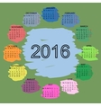 Palette of colors simple 2015 year calendar vector image vector image