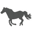 point silhouette of horse vector image
