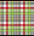 red green check fabric texture seamless background vector image vector image