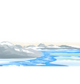 river ice melting in mountain vector image