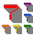 roller sign set of red orange vector image