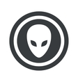 Round black alien sign vector image vector image