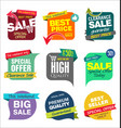 sale banner templates design and special offer vector image vector image