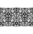seamless damask pattern black and white image vector image