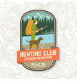 set hunting club badge concept for vector image vector image