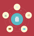 set of gastronomy icons flat style symbols with vector image