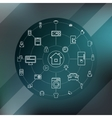 Smart Home And Internet Of Things Concept vector image vector image