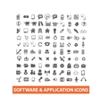 software application icons set vector image