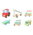 special vehicle icon set cartoon style vector image