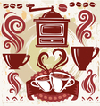 Symbols coffee vector image
