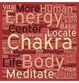 The Body s Energy Centers text background vector image vector image