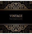 Vintage gold ornamental backround vector image vector image