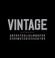 vintage style font retro style alphabet letters vector image vector image